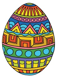 Multicolored Easter egg