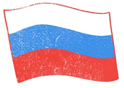 Russian flag on white background
