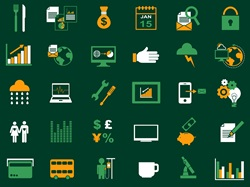Rows of computer icons