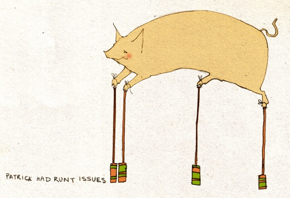 Pig on stilts