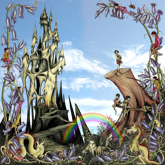 Dreamlike castle plants and creatures