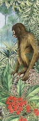 Illustration of monkey in jungle