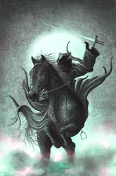 Death on horse with sword