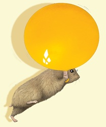 Hamster with balloon