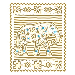 Indian style decoration with elephant