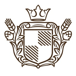 Coat of arms on white background