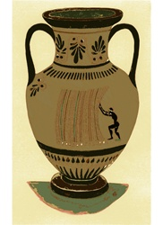 Imitation of ancient vase with bar code