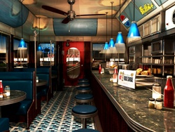 Empty bar interior