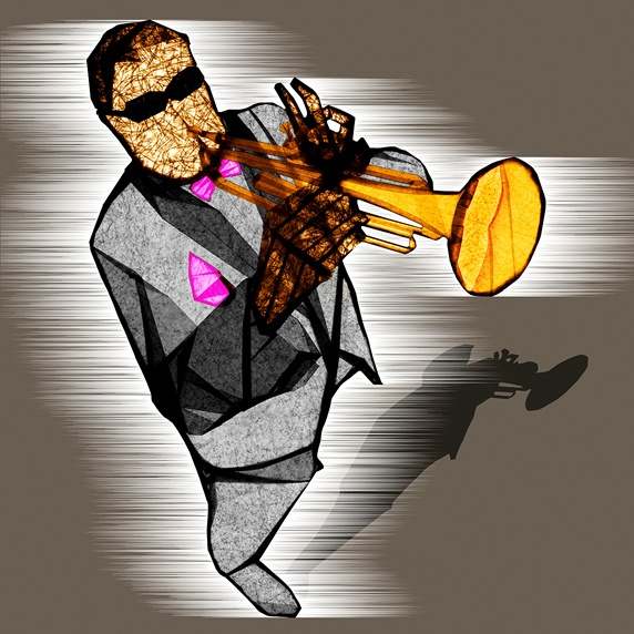 Man playing on trumpet