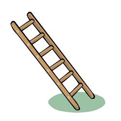 Ladder on white background