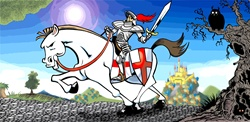 Knight on white horse