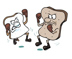 Brown bread fighting with white bread