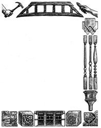 Elements representing various crafts