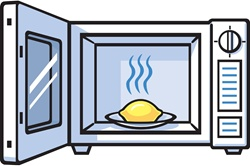 Lemon in microwave