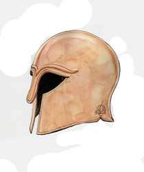 Classical greek helmet
