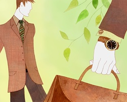 Businessman with gold watch