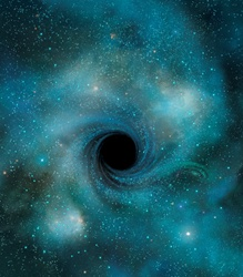 Black hole in outer space