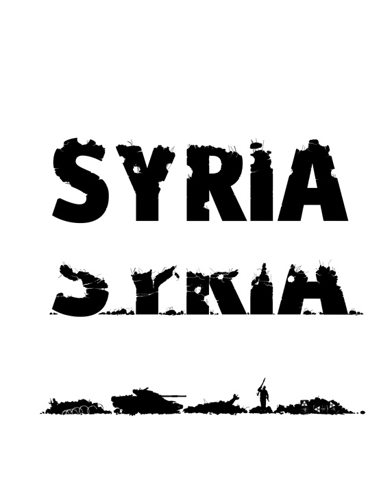 Word Syria on white background