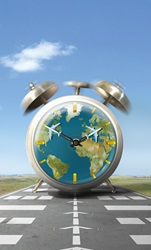 Global alarm clock for flight arrivals