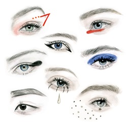 Different eye make-ups
