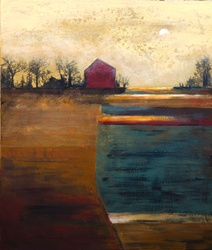Abstract view with farm