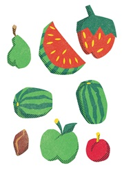 Various fruit on white background