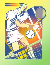 Illustration of tennis player