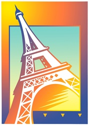 Illustration of Eiffel tower