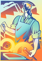 Illustration of manual worker