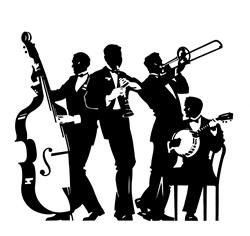 Four men playing music