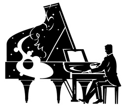 Man playing on piano