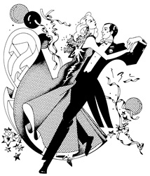 Man dancing with woman