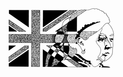 Woman and British Flag