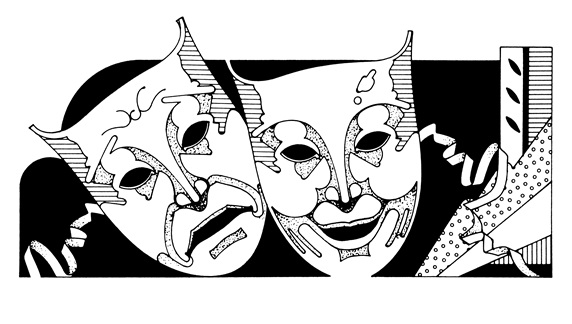 Tragedy and comedy masks