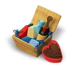 Romantic food hamper