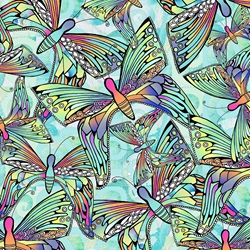 Full frame backgrounds pattern of iridescent butterflies