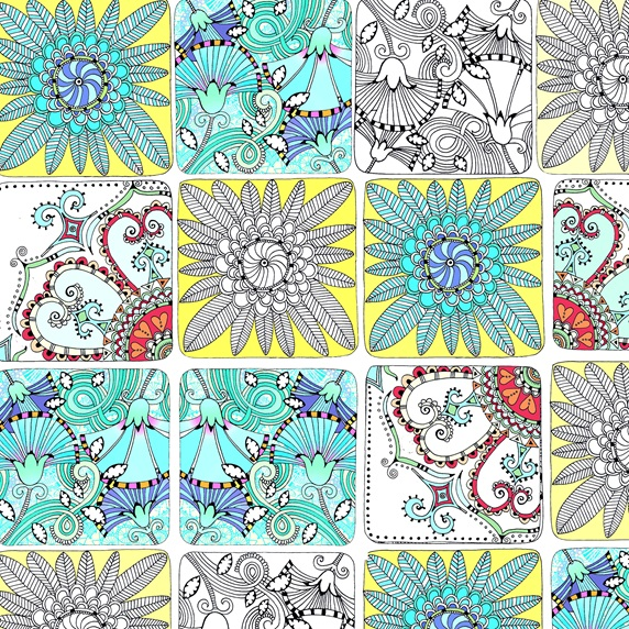 Various colorful geometrical patterns