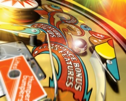 Close up of pinball machine