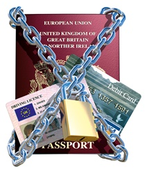 Passport in chain