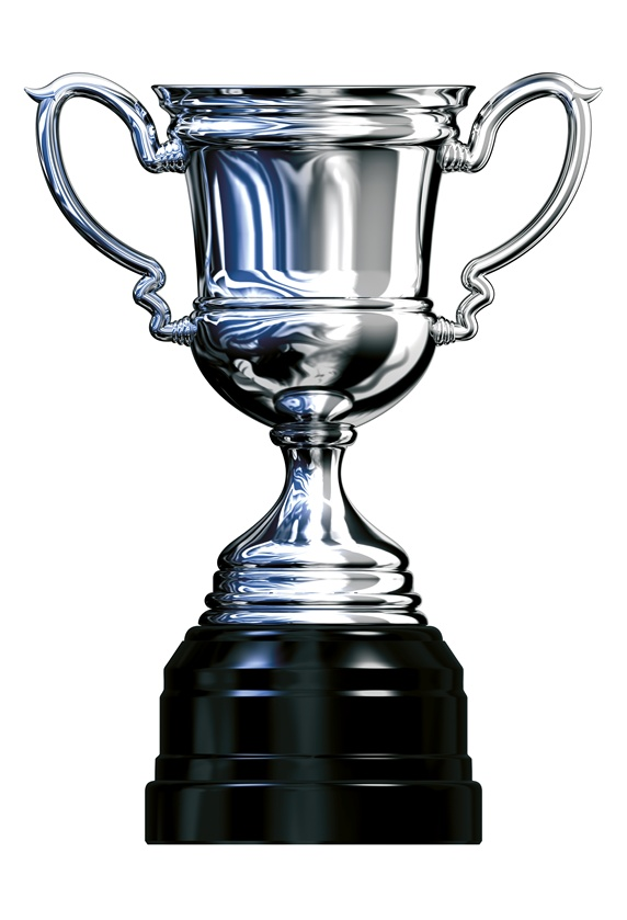 Trophy on white background