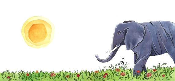 Elephant in meadow