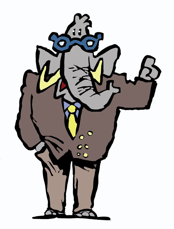 Elephant in full suit