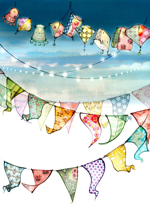 Multi colored bunting
