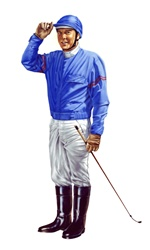 Portrait of jockey