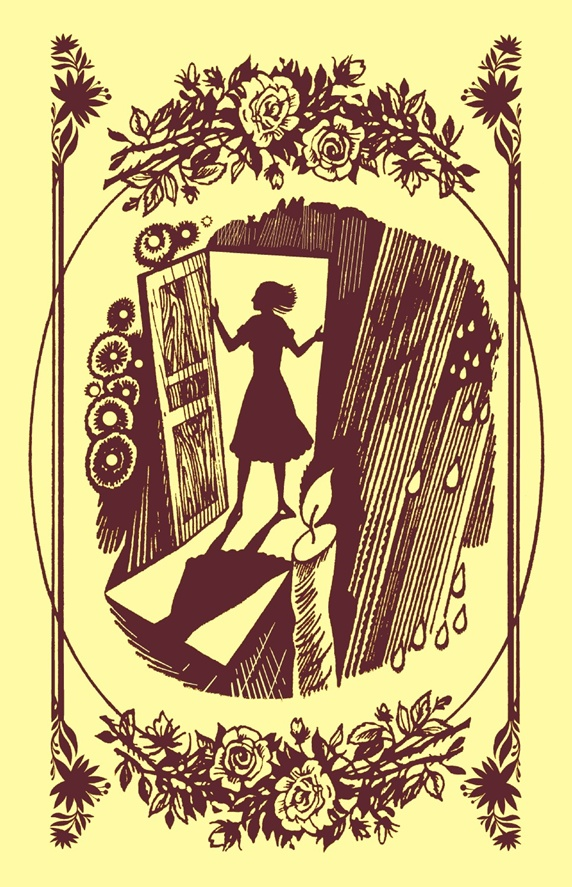 Silhouette of woman standing in doorway