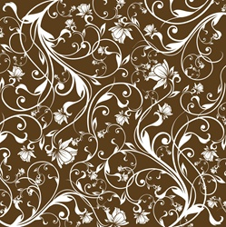Brown and white floral pattern