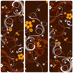 Brown and yellow floral pattern