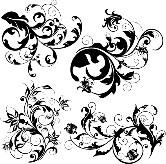Curled up flowers on white background