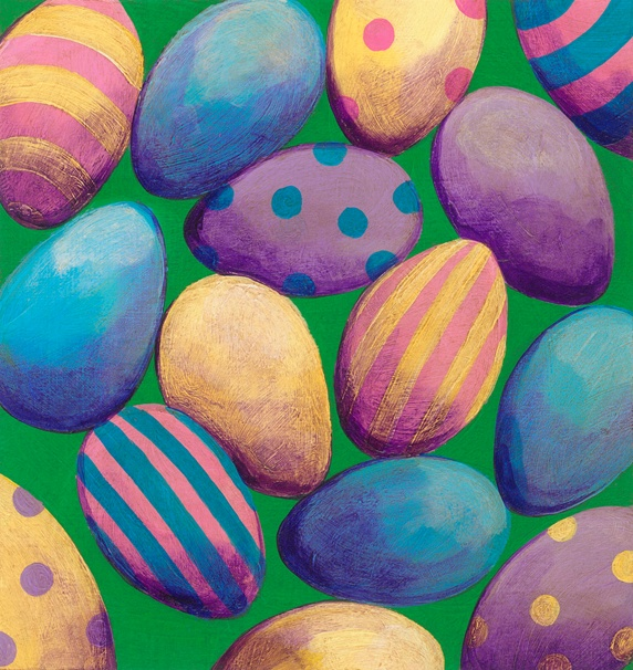 Lots of patterned Easter eggs