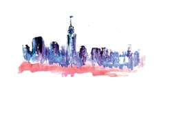 USA, New York State, New York City, City skyline with Empire State Building